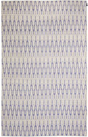KILIM FREEDOM MOROCCAN 8 IVORY/MAJESTADE BLUE VERSO